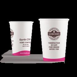 Gobelets thé Lobodis en carton recyclable pour votre consommation de thé en entreprise