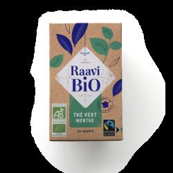 Thé vert menthe Raavi Bio
