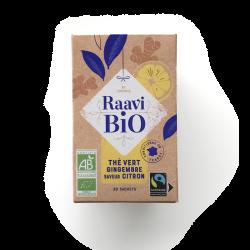 Thé vert Gingembre saveur citron Raavi Bio